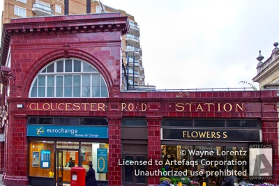 Stock photo of Gloucester Road Station, London, England