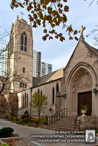 Stock photo of Saint Chrysostoms Episcopal Church, Chicago, Illinois