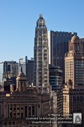 Stock photo of Mather Tower - Chicago, Illinois