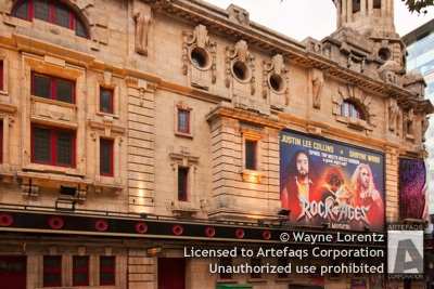 Stock photo of Shaftesbury Theatre - London, England