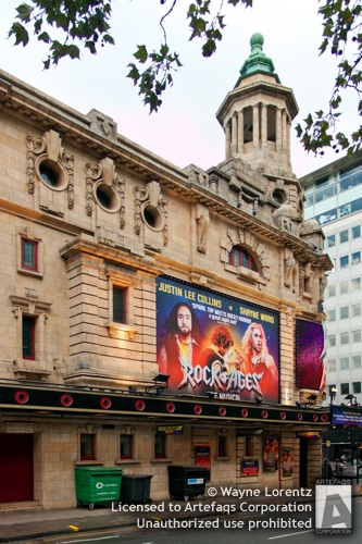 Stock photo of Shaftesbury Theatre, London, England