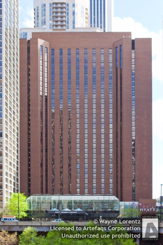 Stock photo of Hyatt Regency Chicago East Tower - Chicago, Illinois -