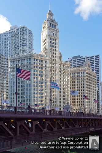 Stock photo of Wrigley Building, Chicago, Illinois -