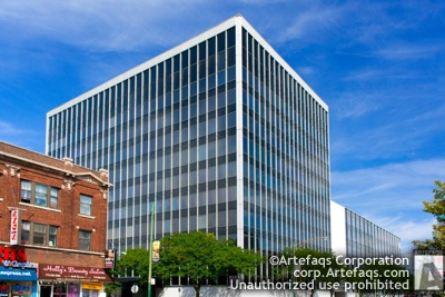 Stock photo of Combined Insurance Company of America Building - Chicago, Illinois,