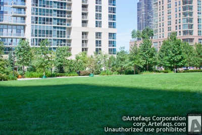Photograph of Lake Shore East Park - Chicago, Illinois,