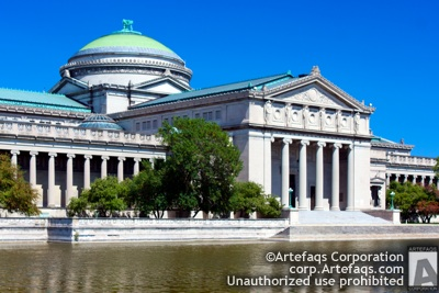Stock photo of Museum of Science and Technology - Chicago, Illinois,