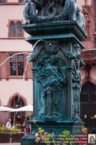 Stock photo of Fountain of Justice - Frankfurt, Germany