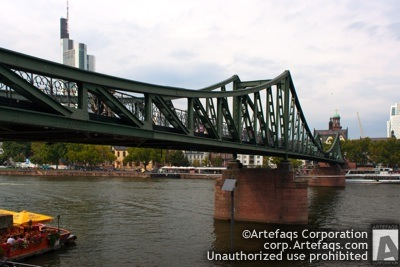 Stock photo of Iron Bridge - Frankfurt, Germany, September, 201