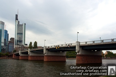 Stock photo of Lower Main Bridge - Frankfurt, Germany, September, 2011