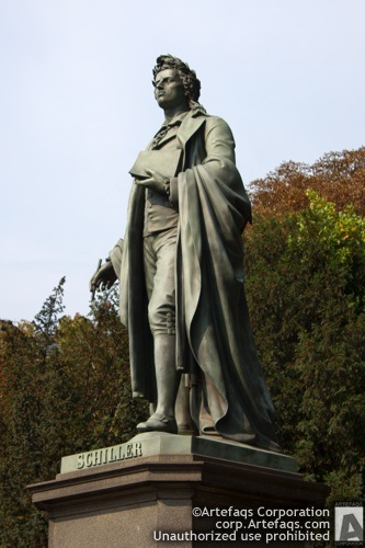 Stock photo of Schiller Monument - Frankfurt, Germany