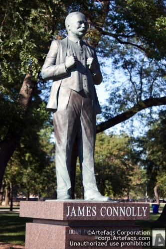 Stock photo of James Connolly Statue - Chicago, Illinois