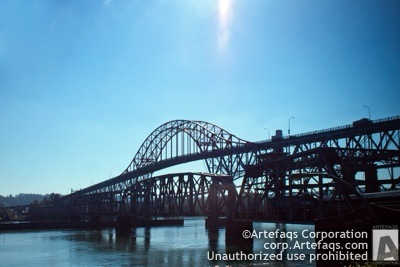 Stock photo of Pattullo Bridge, New Westminster, British Columbia