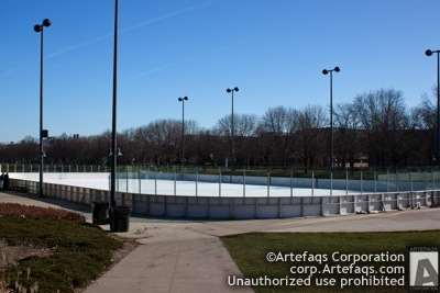 Photograph of Midway Plaisance skating rink - Chicago, Illinois