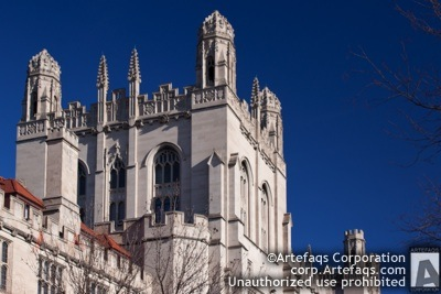 Stock photo of University of Chicago, Harper Building - Chicago, Illinois