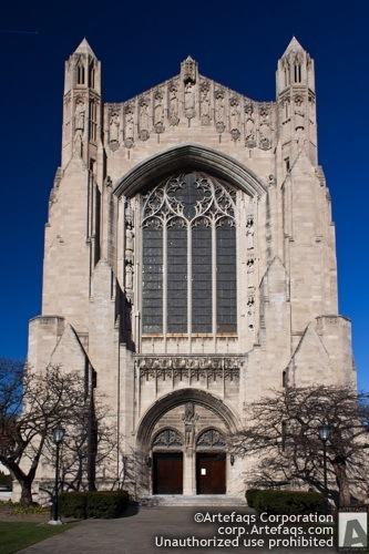 Stock photo of University of Chicago, Rockefeller Chapel - Chicago, Illinois