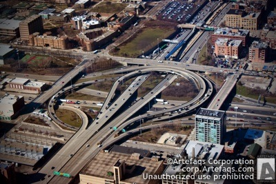 Photograph of I-90 I-94 I-290 Circle Interchange - Chicago, Illinois