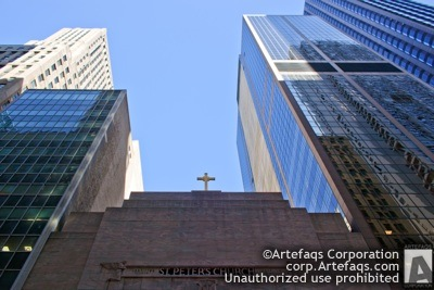 Stock photo of Saint Peter in the Loop - Chicago, Illinois