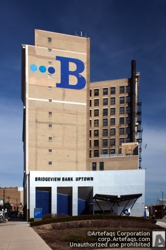 Stock photo of Bridgeview Bank Uptown Building - Chicago, Illinois