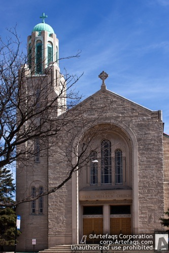Stock photo of Saint Andrews Greek Orthodox Church - Chicago, Illinois