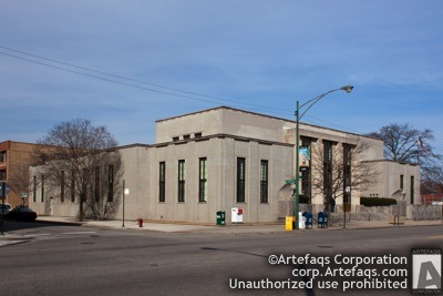 Stock photo of United States Post Office Uptown Station, Chicago, Illinois