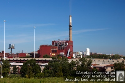 Photograph of Fisk Generating Station - Chicago, Illinois