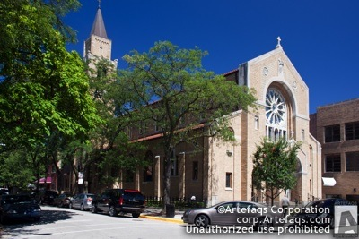 Stock photo of Our Lady of Pompei Church - Chicago, Illinois