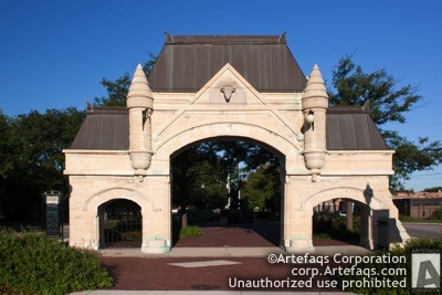 Stock photo of Stockyards gate - Chicago, Illinois