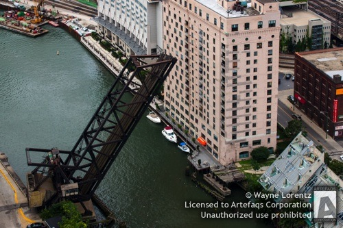 Photograph of Kinzie Street Railroad Bridge - Chicago, Illinois