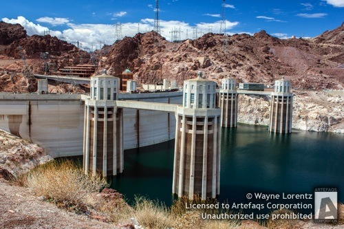 Stock photo of Hoover Dam, Boulder City, Nevada