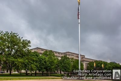 Stock photo of American Legion Indiana Headquarters, Indianapolis, Indiana, May, 2012, 700 North Pennsyl