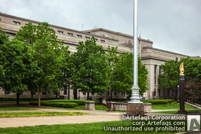 Stock photo of American Legion Indiana Headquarters - Indianapolis, Indiana, May, 2012, 700 North Pennsyl