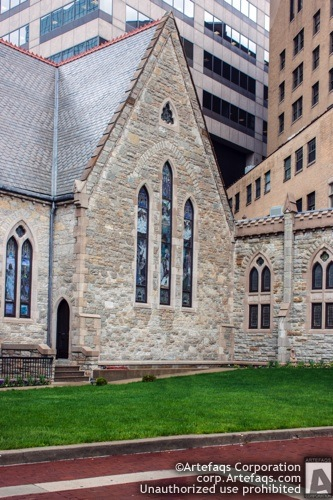 Stock photo of Christ Church Cathedral - Indianapolis, Indiana, May, 2012, 125 Mon