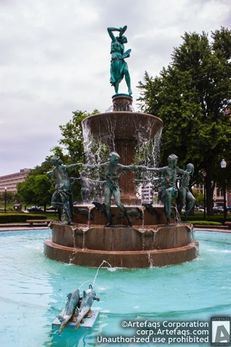 Photograph of DePew Memorial Fountain - Indianapolis, Indiana