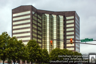 Stock photo of Gateway Plaza, Indianapolis, Indiana, May, 2012, 950 North Mer