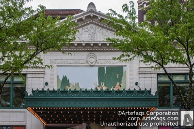 Stock photo of Hilbert Circle Theater - Indianapolis, Indiana, May, 2012, 45 Mon