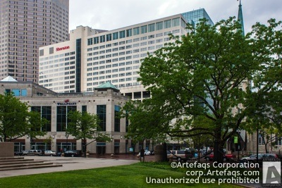 Stock photo of Sheraton Indianapolis City Centre Hotel, 31 West Ohio Street, Indianapolis, Indiana