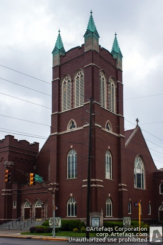 Stock photo of Zion Evangelical Church, 416 East North Street, Indianapolis, Indiana