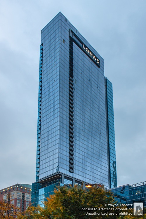 Stock photo of Loews Hotel Tower, Chicago, Illinois