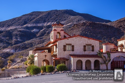 Stock photo of Scottys Castle, Death Valley, California