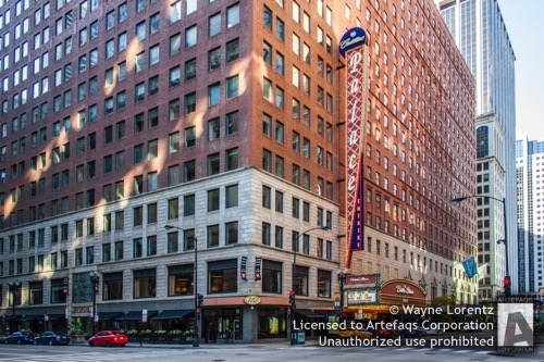 Stock photo of Palace Theater Building - Chicago, Illinois