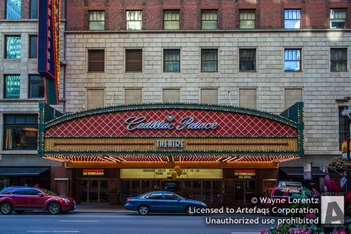Stock photo of Palace Theater Building, Chicago, Illinois