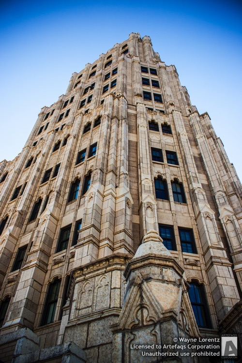 Stock photo of Randolph Tower, Chicago, Illinois